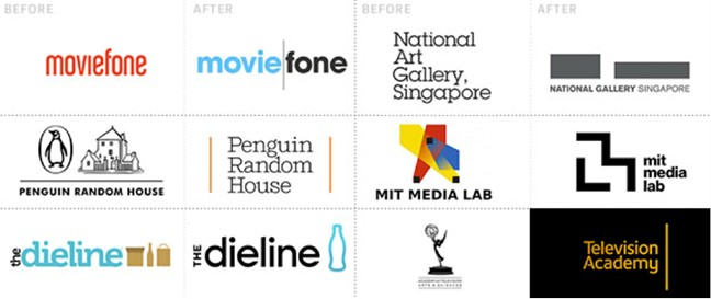 Lignes verticales sur les logos