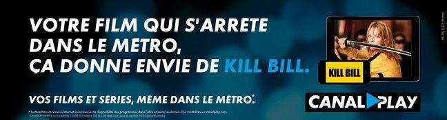 Kill Bill en affichages avec CanalPlay