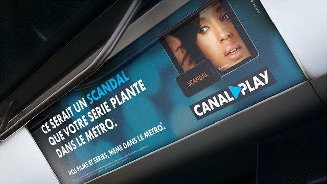 CanalPlay : affichage dans le métro parisien